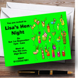 Green Cocktails Customised Hen Do Night Party Invitations