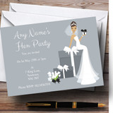 Bride And Gifts Customised Hen Party Invitations