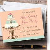 Classical Cake Beautiful Customised Hen Party Invitations
