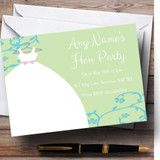 Green Blue Customised Hen Party Invitations