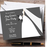 Grey Bride Customised Hen Party Invitations