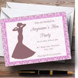 Pink Classic Vintage Customised Hen Party Invitations
