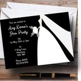 Black Bride Customised Hen Party Invitations