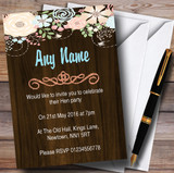 Shabby Chic Pastel And Wood Customised Hen Party Invitations