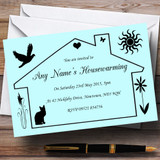 Blue Design Housewarming Party Customised Invitations