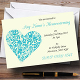Heart New Home Housewarming Party Customised Invitations