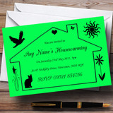 Lime Green Design Housewarming Party Customised Invitations