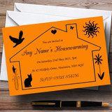 Orange Design Housewarming Party Customised Invitations