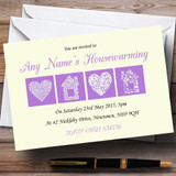 Pale Yellow And Lilac Housewarming Party Customised Invitations