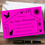 Pink Design Housewarming Party Customised Invitations