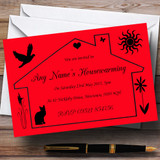 Red Design Housewarming Party Customised Invitations