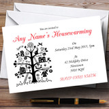 Red White And Black Housewarming Party Customised Invitations