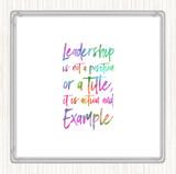 Leadership Rainbow Quote Coaster