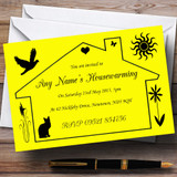 Yellow Design Housewarming Party Customised Invitations
