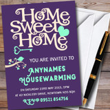 Purple & Aqua Sweet Home Customised Housewarming Party Invitations