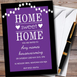 Purple String Lights Customised Housewarming Party Invitations