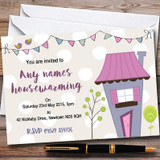 Dotty Bunting House Customised Housewarming Party Invitations