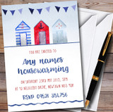 Nautical Beach Hut Customised Housewarming Party Invitations