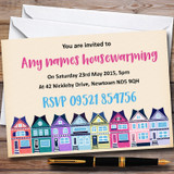 Colourful Houses Customised Housewarming Party Invitations