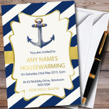 Anchor Nautical Customised Housewarming Party Invitations