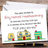 Doodle Houses Customised Housewarming Party Invitations