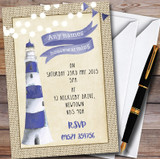 Lighthouse Customised Housewarming Party Invitations