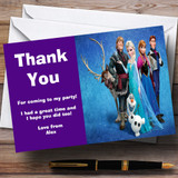 Frozen Blue Customised Children's Birthday Party Thank You Cards