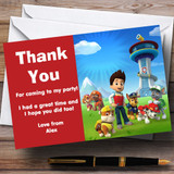 Paw Patrol Customised Children's Birthday Party Thank You Cards