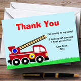 Fireman Fire Engine Customised Birthday Party Thank You Cards