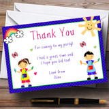 Painting Arts And Crafts Customised Birthday Party Thank You Cards