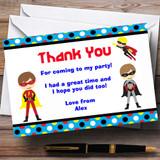 Superhero Customised Birthday Party Thank You Cards