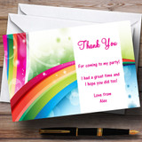 Rainbow Customised Party Thank You Cards