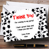 Footballs Customised Children's Party Thank You Cards