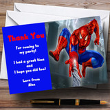 Spiderman Web Customised Children's Party Thank You Cards