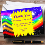 Rainbow Colours Stars Customised Children's Party Thank You Cards