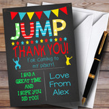Chalk Boys Jump Trampoline Party Thank You Cards