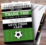 Football Soccer Match Ticket Party Thank You Cards