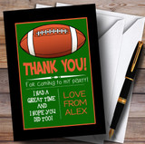 Grass & Black Rugby Party Thank You Cards