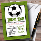 Grass Pitch Football Party Thank You Cards