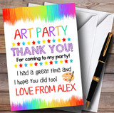 Paint Strokes Art Party Thank You Cards