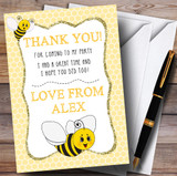 Yellow Honeycomb Bee Party Thank You Cards