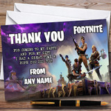 Fortnite Customised Children's Birthday Party Thank You Cards