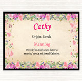 Cathy Name Meaning Placemat Floral
