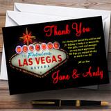 Las Vegas Sign Fabulous Customised Wedding Thank You Cards
