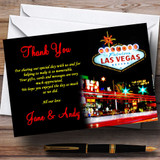 Las Vegas Strip Customised Wedding Thank You Cards