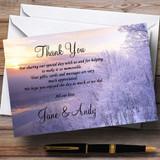 Winter Scene Beautiful Customised Wedding Thank You Cards