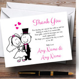 Bride And Groom Customised Wedding Thank You Cards