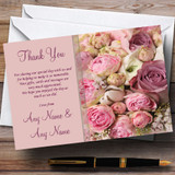 Absolutely Beautiful Pink Flowers Customised Wedding Thank You Cards