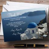 Greece Santorini Sea Abroad Customised Wedding Thank You Cards