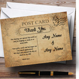 Classic Vintage Shabby Chic Postcard Customised Wedding Thank You Cards